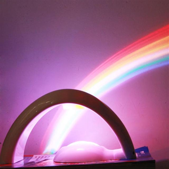 LEDMOMO Gfift Novelty LED Colorful Rainbow Night Light Romantic Sky Rainbow Projector Lamp Luminaria Home Room Decoration
