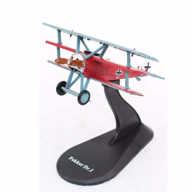 US $17 85 |1/72 Top Selling Diecast Plane Models Aircraft Die cast FOKKER  DR 1 Red Baron Airplanes Model Toy for Collection Gift-in Diecasts & Toy