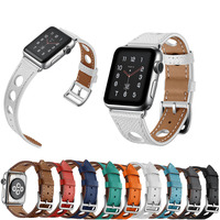 New Genuine Leather Loop Strap For Apple Watch Band 42mm 38mm Single Tour Leather Strap For
