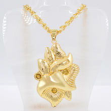 Sunny Jewelry Fashion Jewelry 2019 Women Necklace Pendant Statement Choker Maxi Slide Charms High Quality Copper Fairy For Party