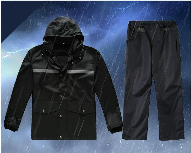 Reflective raincoat rain pants suit Fission leisure raincoat Fashion adult cycling outdoor night  reflective raincoat rain pants waterproof single raincoat men and women for riding working free shipping