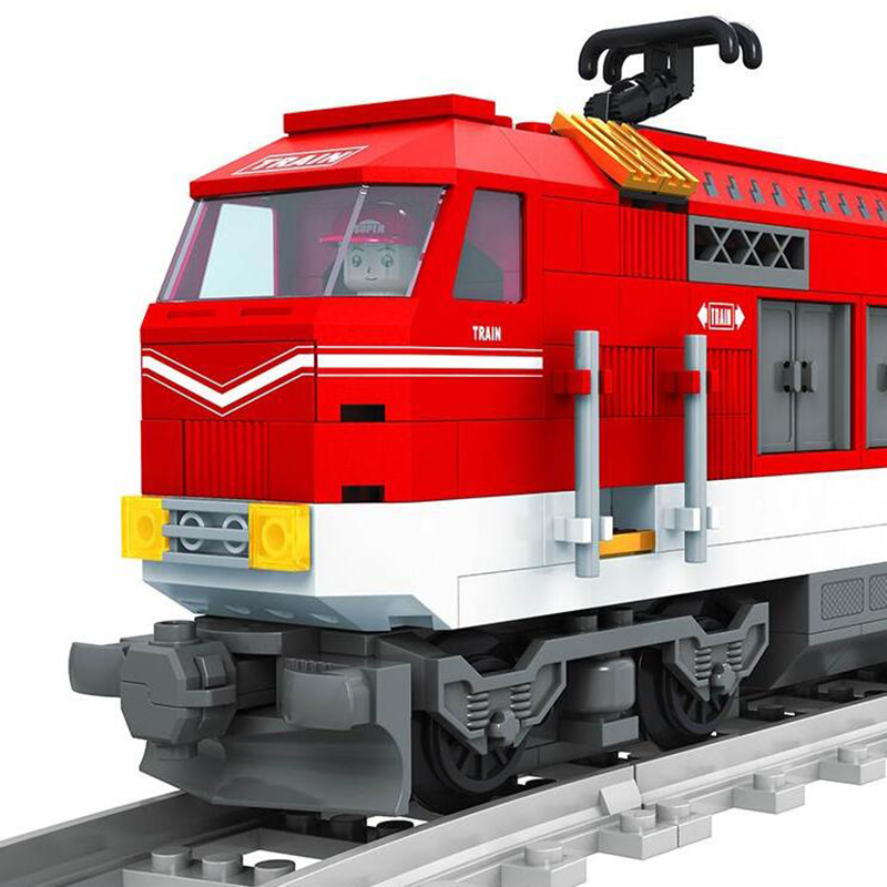 25808 588Pcs City Series Train With Tracks Building Block Bricks Railroad Conveyance Kids Toys For Children Legoings City Friend in Model Building Kits from Toys Hobbies