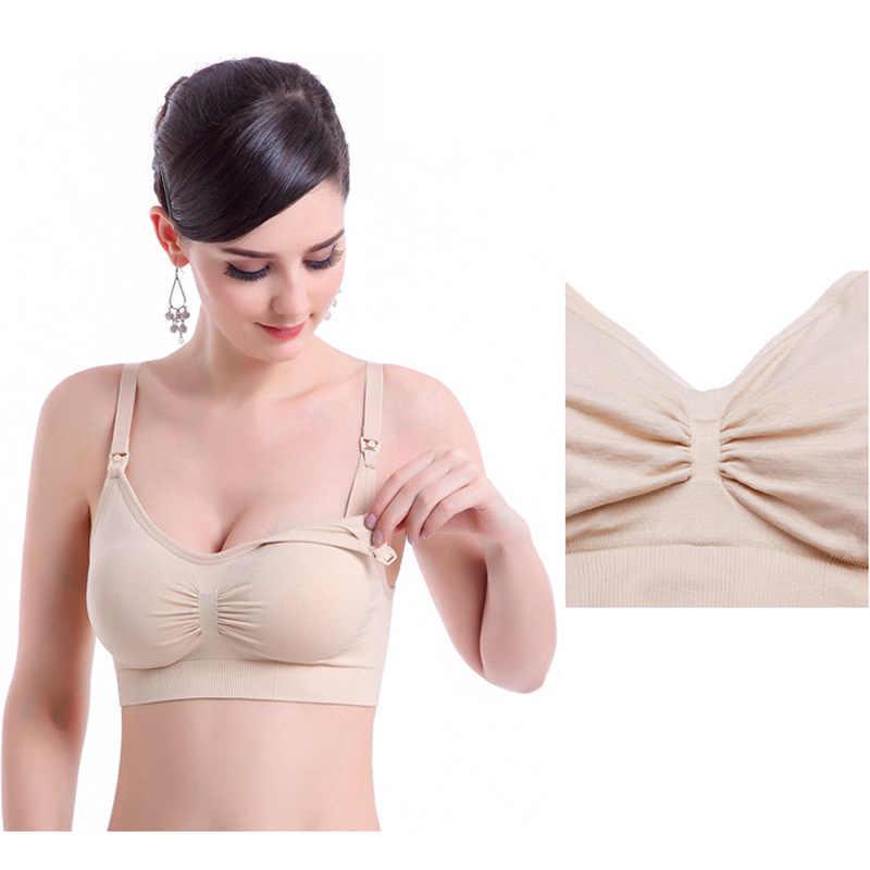 ชุดชั้นในชุดการตั้งครรภ์สำหรับพยาบาลสตรี + Bras 2Pcs Maternity เสื้อผ้า 6 สียี่ห้อผ้าฝ้าย bra Plu