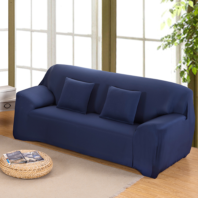US $21.99 45% OFF|Navy Blue All inclusive Full Sofa Cover Slip Cover  Stretch Fabric Sofa Cover Elastic Cover Single/Two/Three/Four Seat-in Sofa  Cover ...