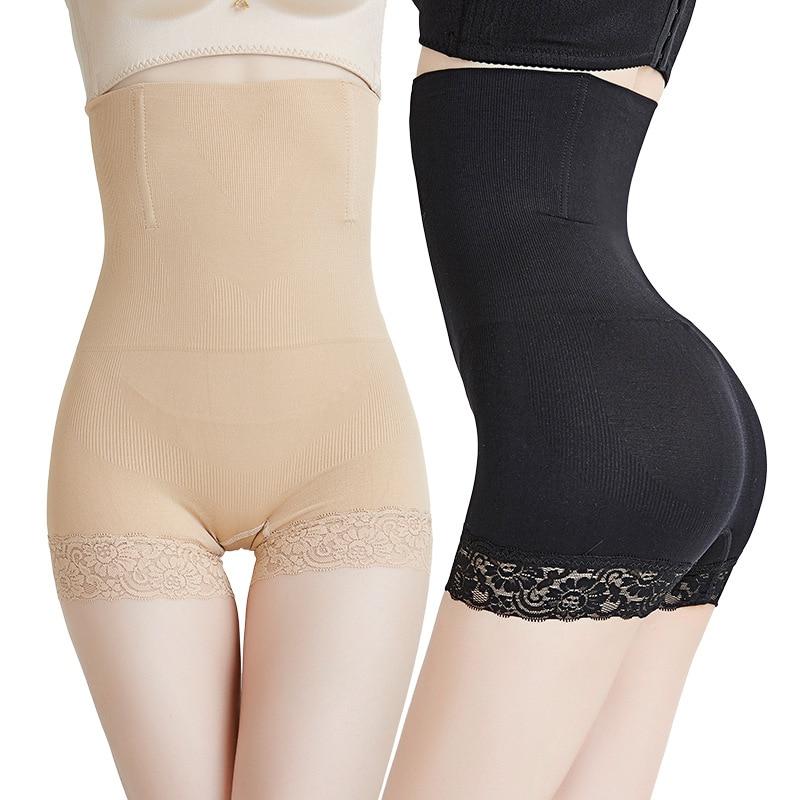 New Fashion Women High Waist Breathe Briefs Underwear Shapewear Panty Body Shaper Control Slim Lace Body Shaping Pants