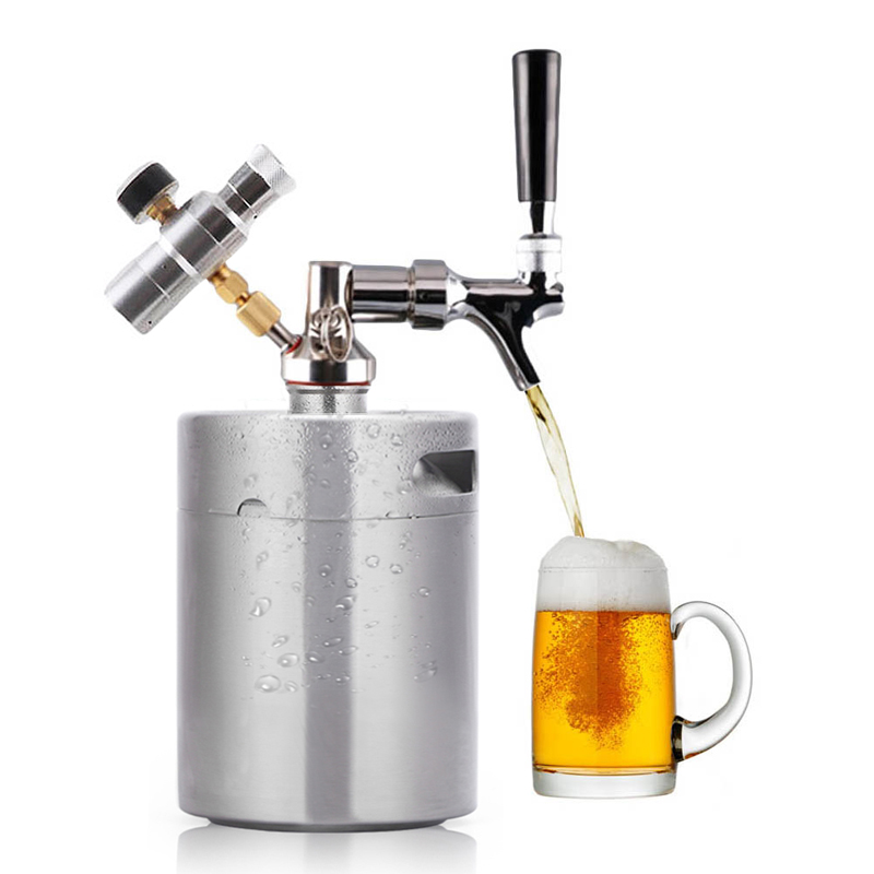 3 6l 2l Stainless Steel 304 Beer Mini Keg Homebrew Keg