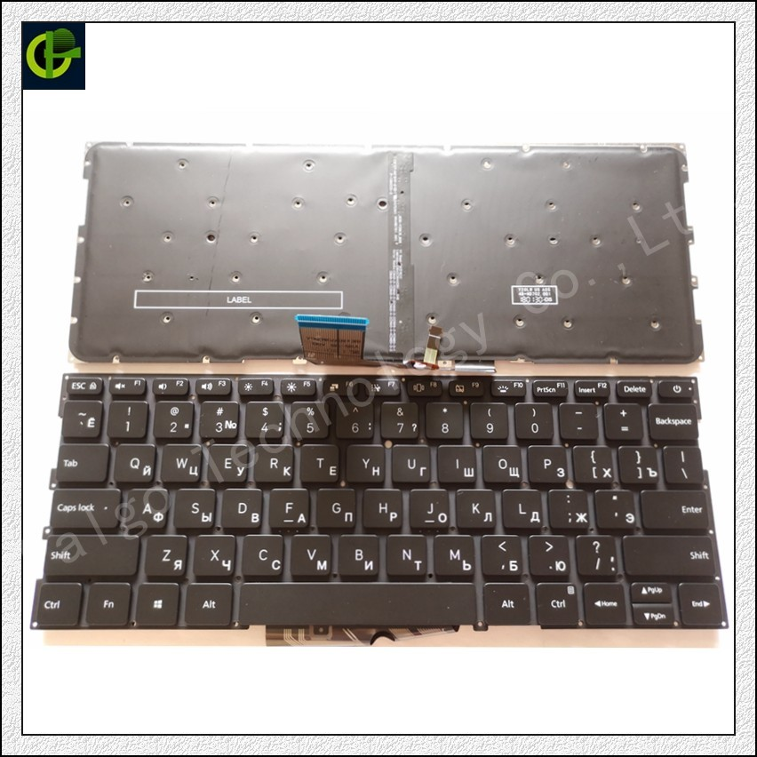 Russische Backlit New Tastatur für Xiao mi mi Air 13,3 zoll 9Z. ND7BW. 001 MK10000005761 490.09U07.0D01 notebook RU schwarz