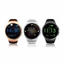 Bluetooth Reloj Teléfono Inteligente KING-WEAR KW18 Sim y Tarjeta de TF Smartwatch de Ritmo Cardíaco