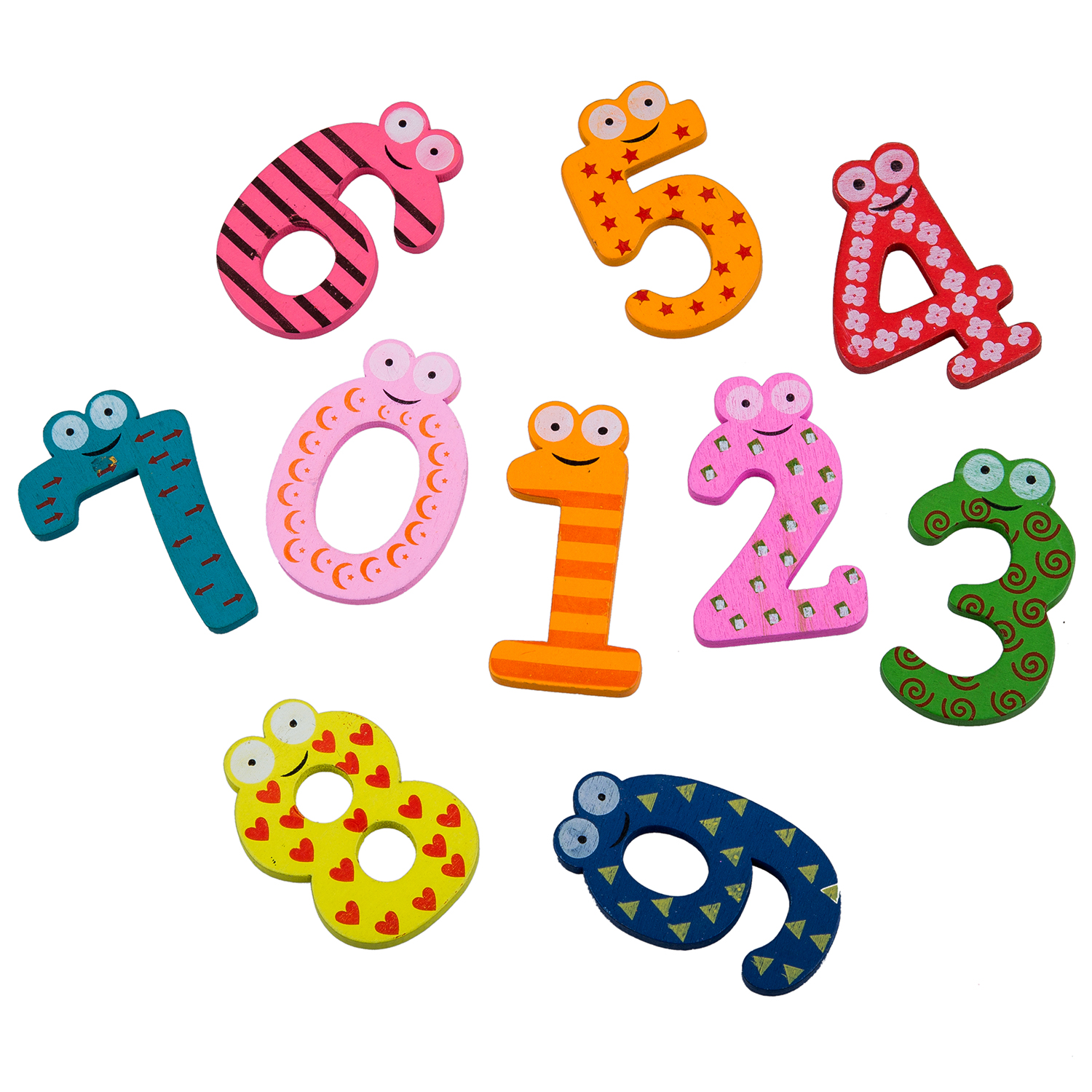 New Colourful Wooden Magnetic Numbers Fridge Magnet Toy NUMBERS Educational Math Toy