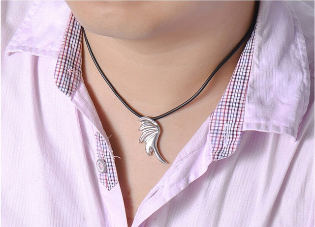 AGOOD 2017 fashion jewelry 925 sterling silver necklaces & pendants for women & men lovers angel wings vintage collier femme