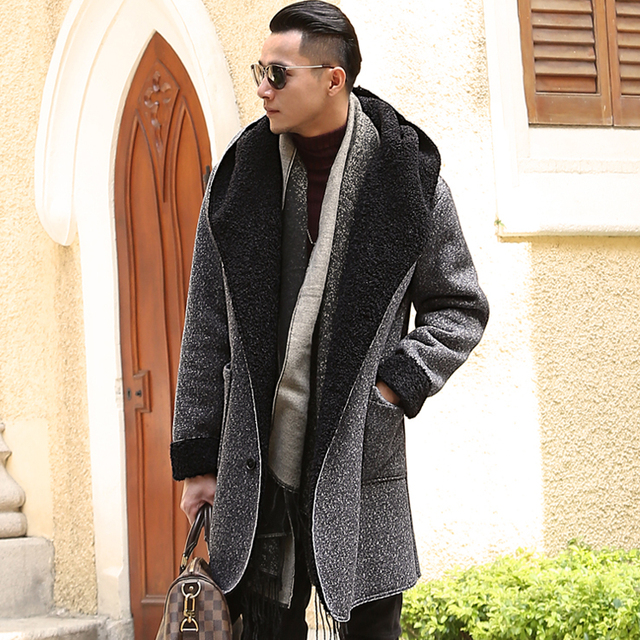 Aliexpress.com : Buy brand casual Mens autumn long Tweed ...