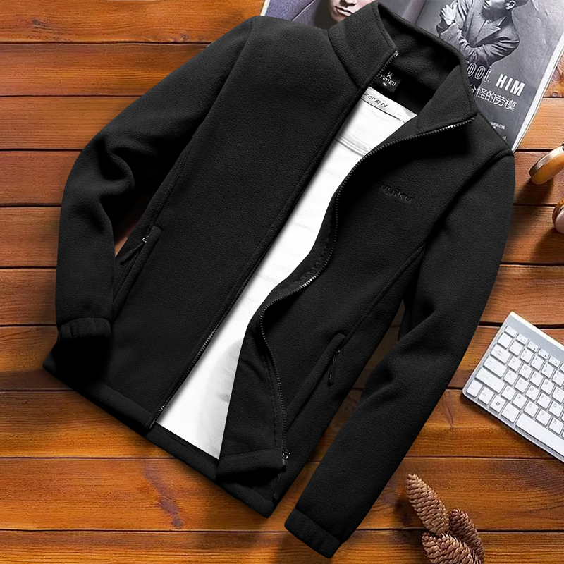 Image 2 - Fashion Mens Spring Jacket 2020 Autumn Stand Collar Homme Casual Jacket Men Thermal Fleece Male Coat Plus Size 6XL 7XL 8XL 9XLJackets   -