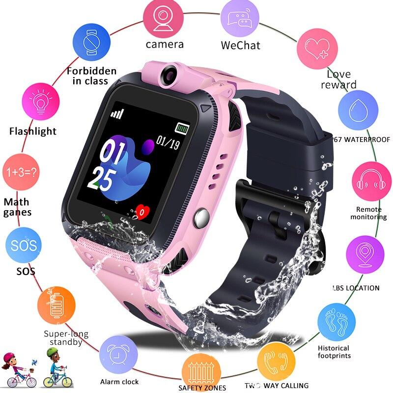 LIGE 2019 Новые Детские умные часы анти потерянный монитор LBS Детские умные часы детские часы SOS Call Location Finder Locator Tracker