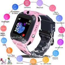 LIGE 2019 Children Baby Smart Watch Micro SIM Card SOS Call LBS Tracker Child Camera Anti-lost Position Alarm Kid SmartWatch+Box(China)