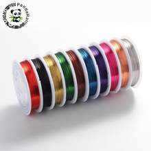 Copper Jewelry Wire, Lead Free & Cadmium Free & Nickel Free, Mixed Color, 0.4mm; 10m/roll(China)