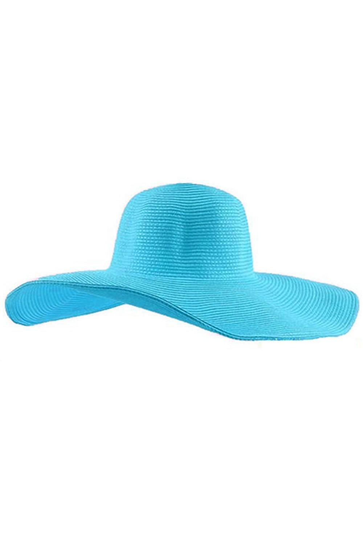 a653ab858d5 SAF Women Cute Summer Straw Beach Hat Wide Large Brim Foldable Sun ...