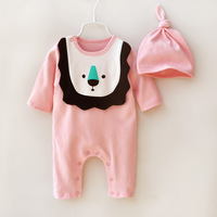New Fashion Spring And Autumn Newborn Baby Boys Baby Girls Cartoon Baby Comfort Clothes Lovely Long