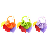 Baby Fruit Teether Baby Teething Ring Chew Toys Dental Care Training Toothbrush Baby Intellignence Developement
