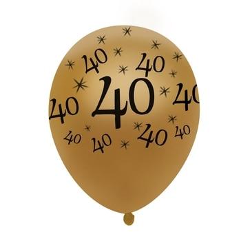 40th Birthday Balloon Gold 10 Pcs