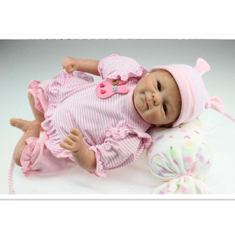Reborn bébés réaliste Silicone Reborn poupées 16 pouces/40 cm, nouveauté réaliste bébé Reborn jouets pour enfant cadeau d'anniversaire poupée