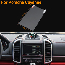 Car Styling 7 Inch GPS Navigation Screen Steel Protective Film For Porsche Cayenne Control of LCD Screen Car Sticker