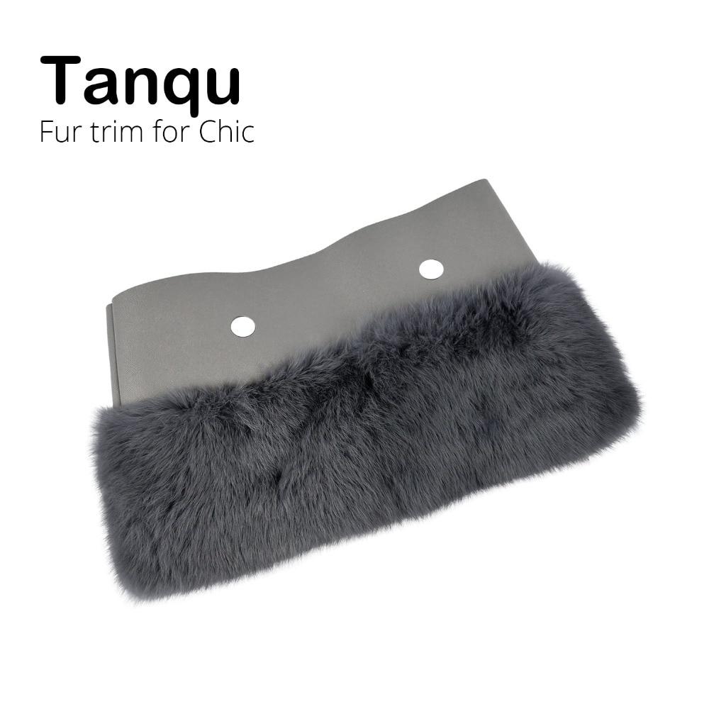 Tanqu New Women Bag Rabbit Fur Trims Plush Trim For Chic O BAG Thermal Plush Decoration Fit For Ochic Obag