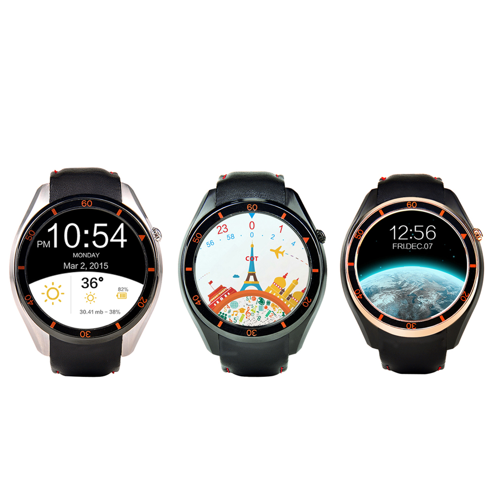 Newest Smart Watch I3 MTK6580 WIFI GPS Android 5.1 OS Silicone Leather Smartwatch SIM For Google Map Heart Rate 3G Network Watch
