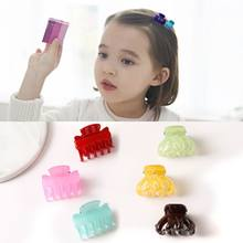 New Fashion Girls Small Hair Claw Cute Candy Color flower Hair Jaw Clip Children Hairpin Different Size Hair Clip Claw Hair Tool(China)