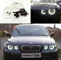 For BMW E46 3 Series Compact 2001-2004 Excellent angel eyes Ultrabright headlight illumination CCFL Angel Eyes kit Halo Ring