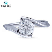 Queen Brilliance 1.2ct F Color Lab Grown Moissanite Diamond Engagement Wedding Ring Genuine 14K 585 White Gold For Women Jewelry