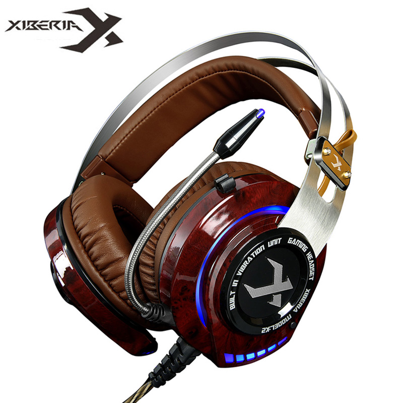 XIBERIA K2 Gaming Headphones with Microphone Stereo Surround Sound Glowing LED Light Vibration Game Headset for Computer Gamer стоимость