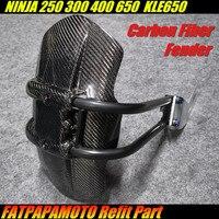 Для KAWASAKI NINJA 250 300 400 650 KLE650 т Аксессуары для мотоциклов 100% углеродного волокна задний брызговик