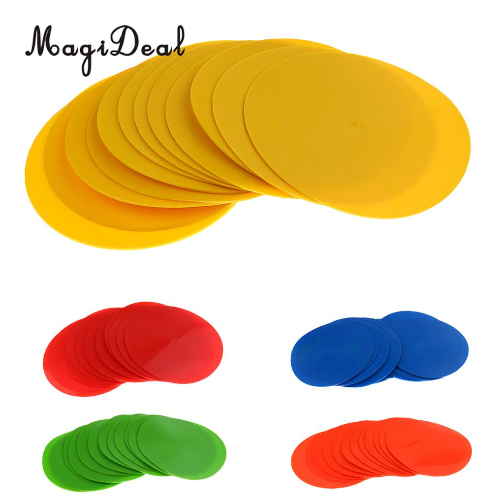 MagiDeal 12 Pieces Durable PVC Sports Spot Markers for Training and Drills - Choice of Colors ...