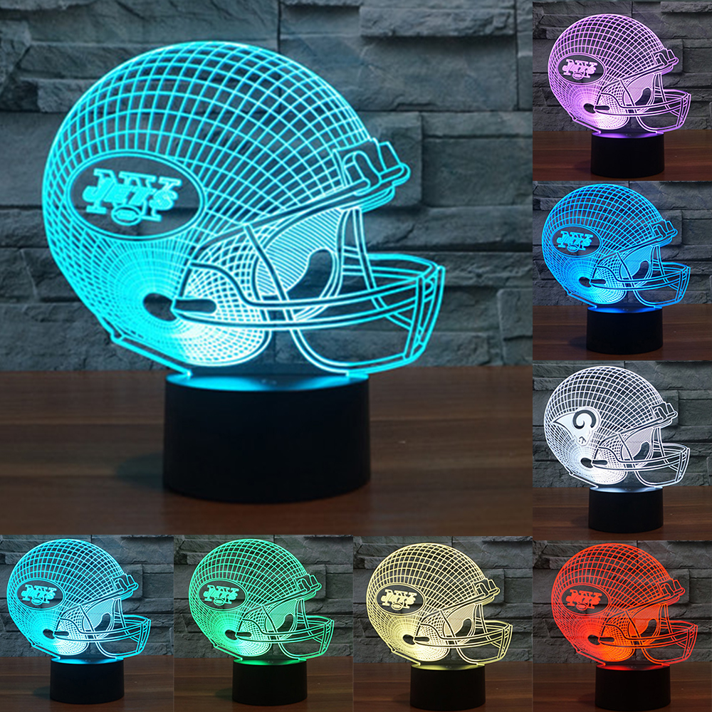 LED Tennessee Titans/New York Jets/Washington Redskins Team Neon Light Signs 3D Football Helmet Visual Lamp as gift IY803664 new york jets stainless dog bowl
