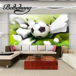 Beibehang 3D Stereo Fußball TV Hintergrund Dekorative Malerei  Benutzerdefinierte Fresco Wohnzimmer Schlafzimmer Tapete