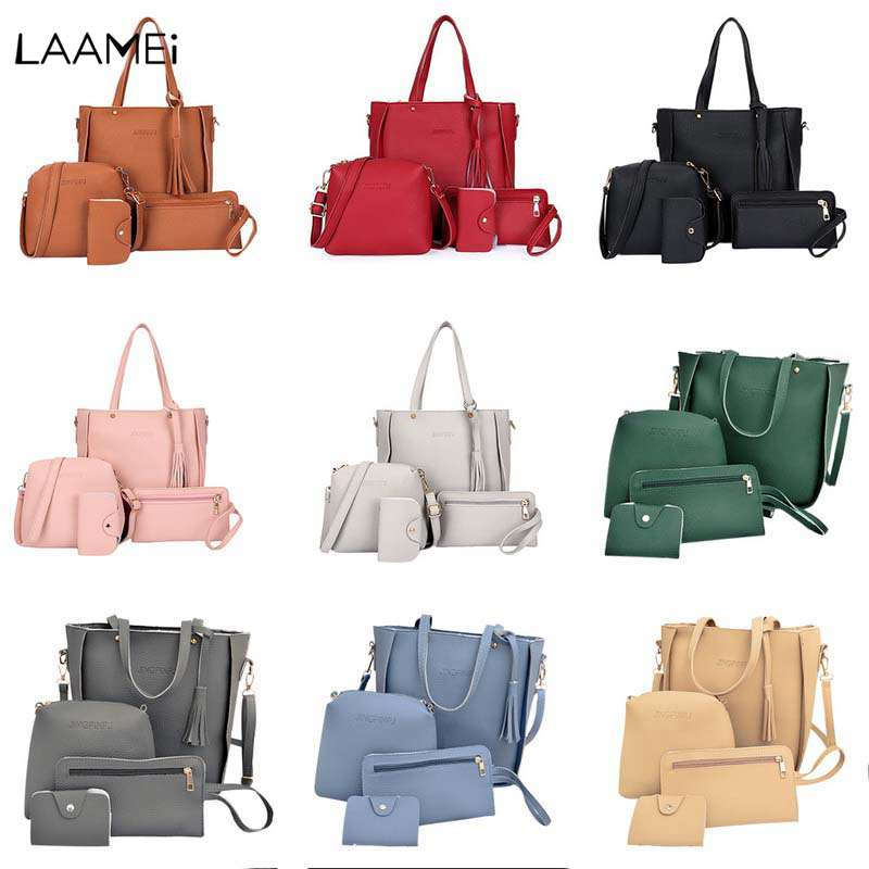 Laamei Leather bags for women 2018 Shoulder Bag Women Handbag Bag Shoulder Bags Tote Purse Messenger Satchel bolsa feminina fashion women canvas stripe shoulder bag satchel crossbody tote handbag purse messenger gift wholesale bolsa feminine