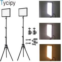 Tycipy LED Photo Light Camera Photo LED Video Light Makeup Lighting With Tripod For Smartphone Canon DSLR Photographic Youtube