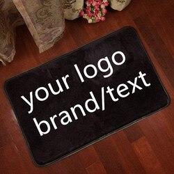 Luksusowe logo na zamówienie marka tekst zdjęcie dywan dywan mata podłogowa dywan zdjęcie sklep nazwa powierzchnia dywaniki salon sypialnia drukuj tapete w Dywany od Dom i ogród na