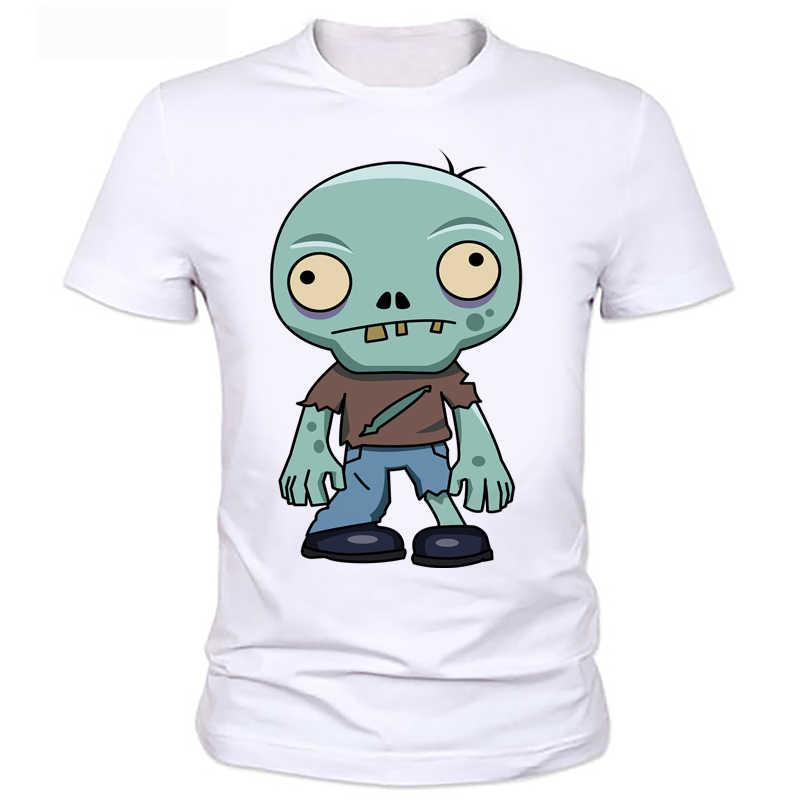 T-shirt dos homens de impressão personalidade plants vs zombies Zombies meninos camiseta verão crianças t-shirt de manga curta top tee 2 -52 #