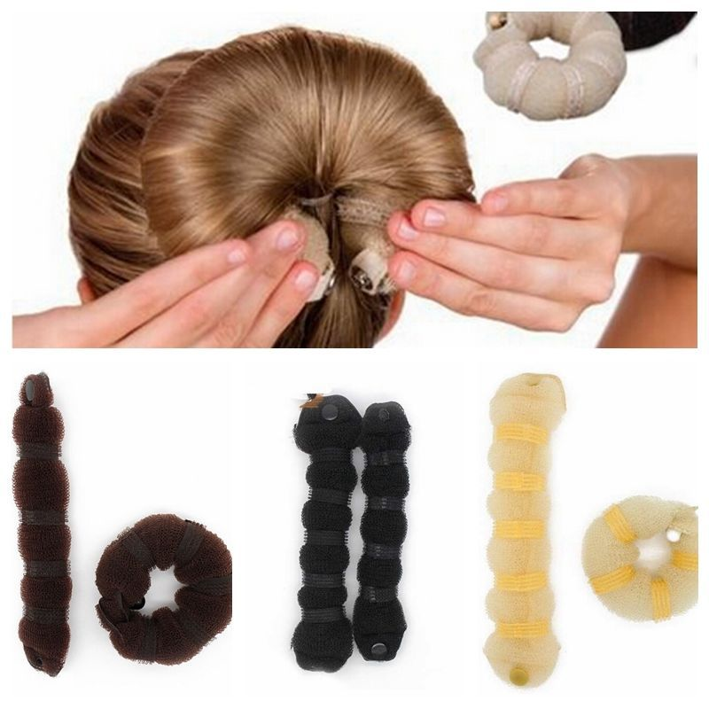 US $1 65 15% OFF|2 Pcs/Set Women Lady Fashion Hair Styling Tools Hairpin  Headwear Elegant Magic Style Buns Rope Braider Hair Band Accessories-in