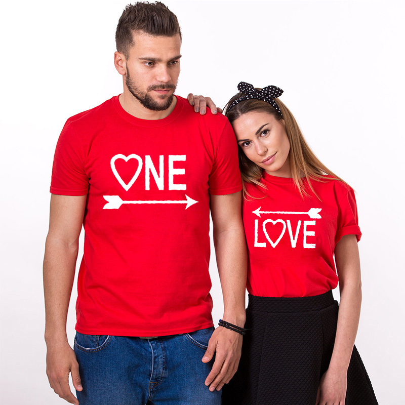 EnjoytheSpirit Couple T Shirt For Lovers One Love Arrows To Each Other Graphic Tees Couple Clothes Short Sleeve Unisex T-shirt