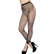 FGirl Knee Socks Sexy Women's Stockings Sexy Hosiery Fashion Fishnet Footless Tights W Chevron Panthose FG41746