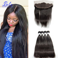 7A virgin malaysian straight hair 4 bundles with frontal closure spring queen hai ear to ear lace frontal with straight bundles