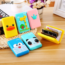 The new stereo silicone card package student bus set of 6 kinds cartoon clip box