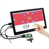 Waveshare 13.3inch Capacitive Touch Screen 1920x1080 IPS Display Supports Raspberry Pi/Jetson Nano/BB Black and General PC