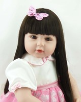 22 inch elegant Russian girl doll toy long hair silicone babies dolls 55 cm reborn Doll Realistic princesses costume accessories