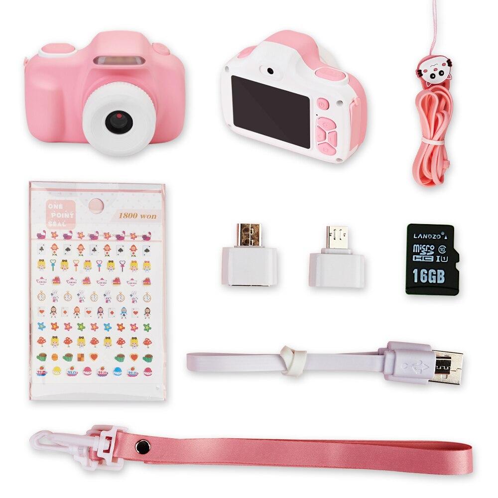 Appareil photo reflex numérique pour enfants, antichoc et avant et arrière Selfie caméra 20.0M avec 2.0 pouces IPS écran enfants jouets éducatifs