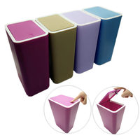 Creative Fashion Plastic Trash Can Pressing Cover Type Kitchen Waste Bin Sitting Room Toilet Trash Office