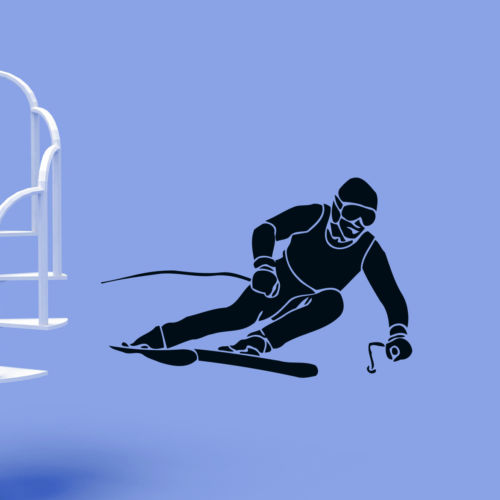 Skier Ski Extreme Winter Sport Wall Decor Vinyl Stickers Room Decals Home Decoration DIY Wall Art Mural Wallpaper