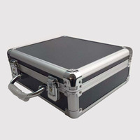 Portable aluminum alloy tool box file storage box anti shock equipment instrument box with lock with pre cut cotton 260x220x100m